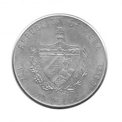 Silver Coin 10 Pesos Cuba Bee Hummingbird Year 2000 Proof | Numismatics Store - Alotcoins