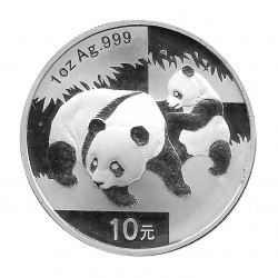 Moneda China Año 2008 Plata Panda Cachorro y madre 10 Yuanes Proof