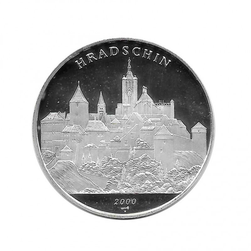 Silver Coin 10 Pesos Cuba Hradschin Prague Castle Year 2000 Proof | Numismatics Shop - Alotcoins