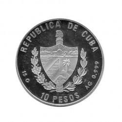 Silver Coin 10 Pesos Cuba Hradschin Prague Castle Year 2000 Proof | Numismatics Store - Alotcoins