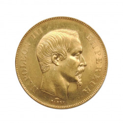 Gold Coin of 50 Francs France Napoleon III Bonaparte 16.12 grs 0.5 oz Year 1857 A | Collectible Coins - Alotcoins