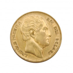 Gold Coin of 20 Francs Belgium Leopold I 6.45 grs Year 1865 | Collectible Coins - Alotcoins