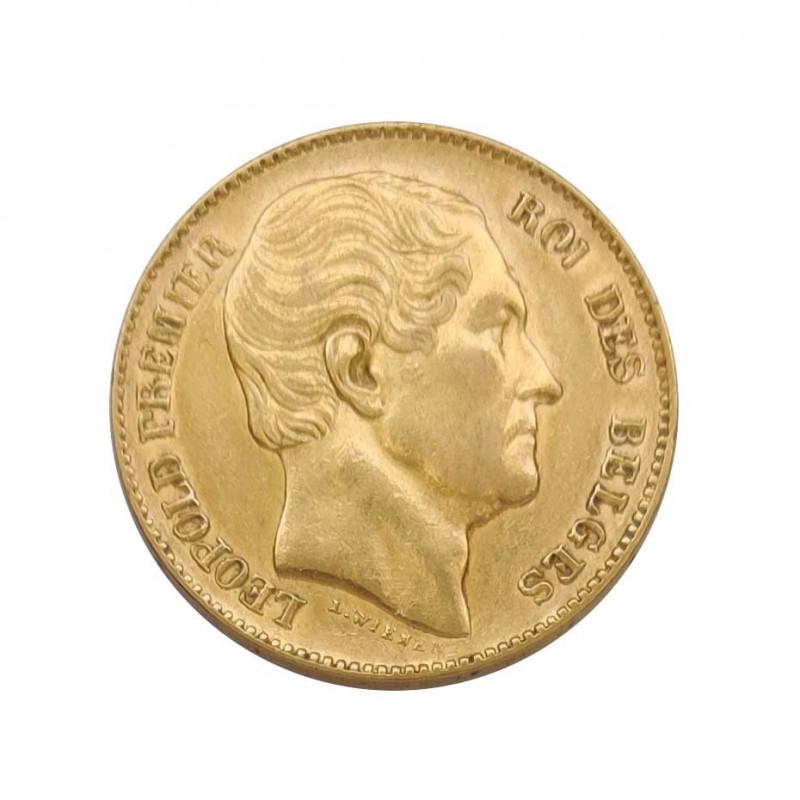 Goldmünze von 20 Franken Belgien Leopold I 6,45 g Jahr 1865 | Sammelmünzen - Alotcoins