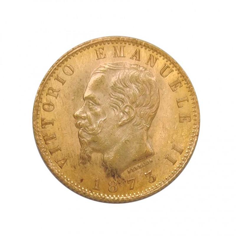Goldmünze von 20 Lire Italien Viktor Emanuel II 6,45 g Jahr 1873 Gedenkmünze | Sammelmünzen - Alotcoins