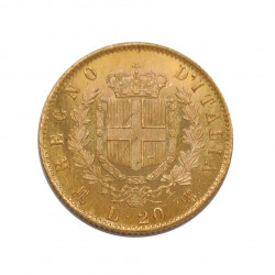 Gold Coin of 20 Lire Italy Victor Emmanuel II 6.45 grs Year 1873 | Numismatics Shop - Alotcoins