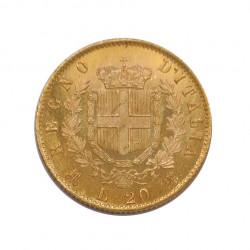 Goldmünze von 20 Lire Italien Viktor Emanuel II 6,45 g Jahr 1873 | Numismatik Store - Alotcoins