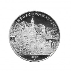 Silver Coin 10 Pesos Cuba Neuschwanstein Castle Bavaria Year 2000 Proof | Collectible Coins - Alotcoins