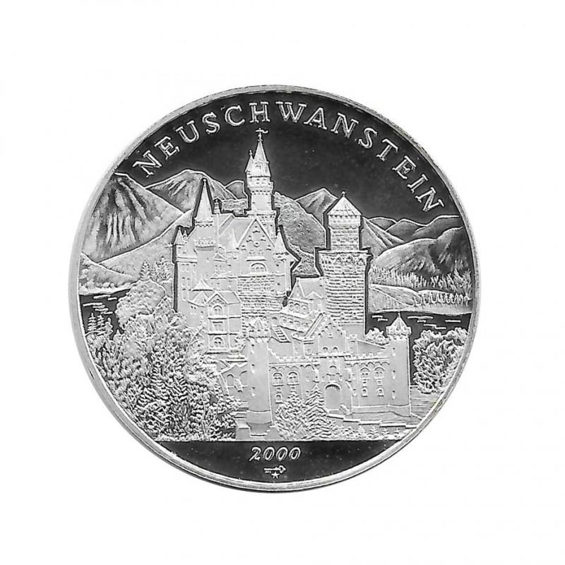 Moneda Cuba 10 Pesos Castillo de Neuschwanstein Baviera Año 2000 Proof   Monedas de colección - Alotcoins