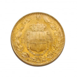 Gold Coin of 20 Lire Italy Umberto I of Savoy 6.45 g Year 1881 | Numismatics Shop - Alotcoins