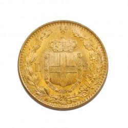 Goldmünze von 20 Lire Italien Umberto I. von Savoyen 6,45 g Jahr 1881 Gedenkmünze | Numismatik Store - Alotcoins