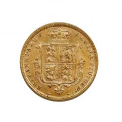 Moneda de oro de 1/2 Sovereign Reino Unido Reina Victoria 3,992 grs Año 1885 | Tienda Numismática - Alotcoins