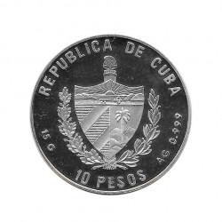 Silver Coin 10 Pesos Cuba Castle of Versailles France Year 2000   Numismatics Shop - Alotcoins