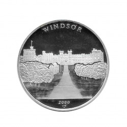 Silver Coin 10 Pesos Cuba Castle of Windsor United Kingdom Year 2000 Proof | Collectible Coins - Alotcoins