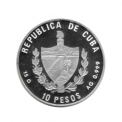 Silver Coin 10 Pesos Cuba Castle of Windsor United Kingdom Year 2000 Proof | Numismatics Shop - Alotcoins