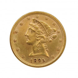Gold Coin of Half Eagle United States Liberty 8.36 g Year 1895 | Collectible Coins - Alotcoins