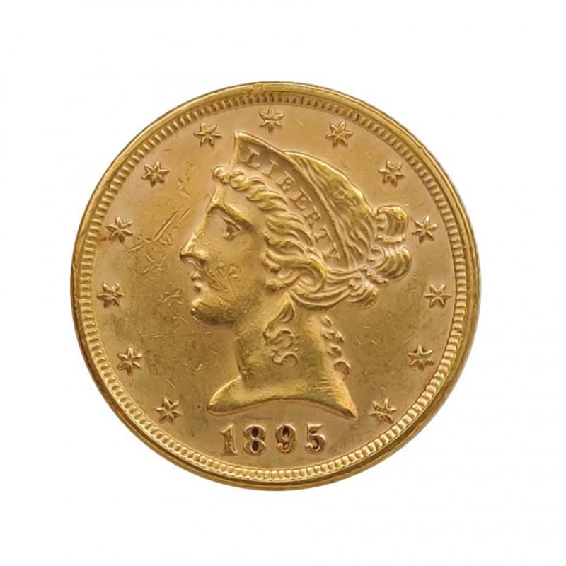 Goldmünze von Halber Eagle Vereinigte Staaten Freiheit 8,36 g Jahr 1895 Gedenkmünzen | Sammelmünzen - Alotcoins