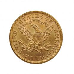 Moneda de oro Medio Eagle Estados Unidos Libertad 8,36 grs Año 1895 | Tienda Numismática - Alotcoins