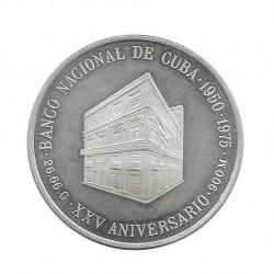 Silver Coin 10 Pesos Cuba National Bank of Cuba Year 1975 Proof | Collectible Coins - Alotcoins