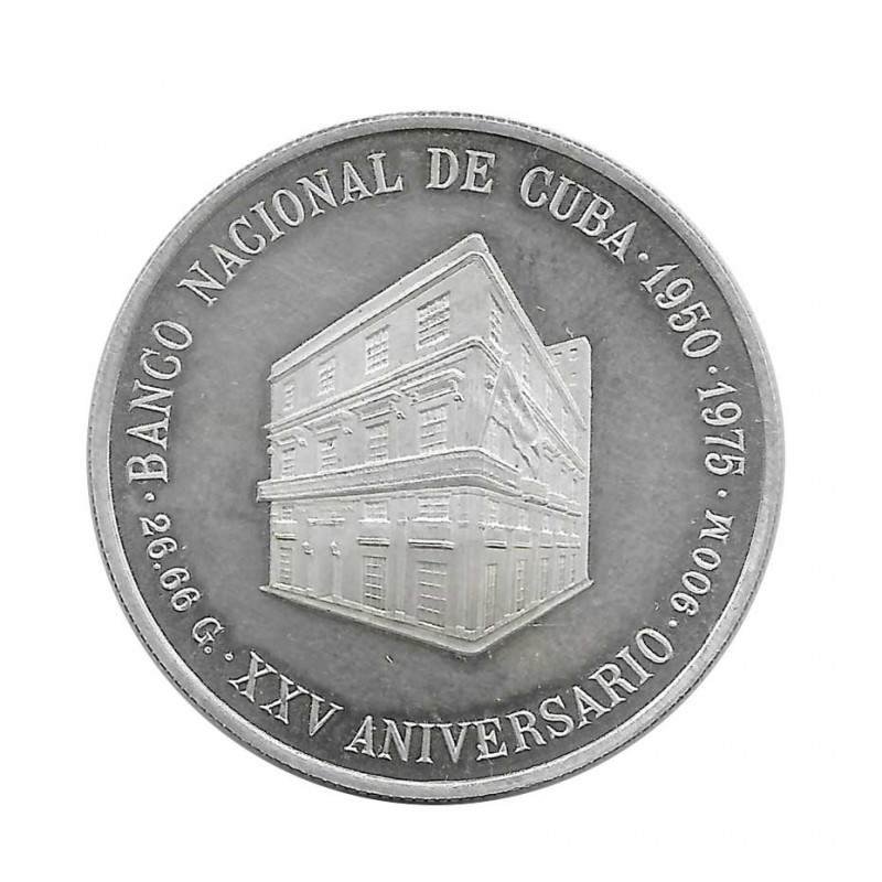 Moneda Plata 10 Pesos Cuba Banco Nacional de Cuba Año 1975 Proof | Monedas de colección - Alotcoins