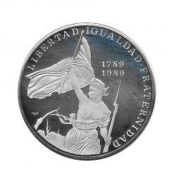 Moneda Plata 10 Pesos Cuba Revolución Francesa Libertad Año 1989 Proof | Monedas de colección - Alotcoins