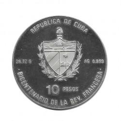 Moneda Plata 10 Pesos Cuba Revolución Francesa Libertad Año 1989 Proof | Tienda Numismática - Alotcoins
