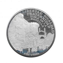 Silbermünze 10 Peso Kuba Französische Revolution Bastille Jahr 1989 Polierte Platte PP | Sammelmünzen - Alotcoins