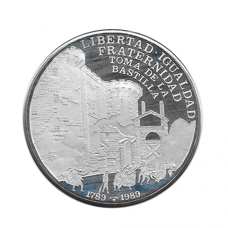 Moneda Plata 10 Pesos Cuba Revolución Francesa La Bastilla Año 1989 Proof | Monedas de colección - Alotcoins