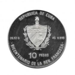 Silbermünze 10 Peso Kuba Französische Revolution Bastille Jahr 1989 Polierte Platte PP   Numismatik Store - Alotcoins