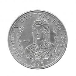 Moneda Plata 10 Pesos Cuba Reina Isabel España Año 1990 Proof | Monedas de colección - Alotcoins