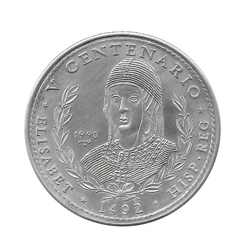 Moneda Plata 10 Pesos Cuba Reina Isabel España Año 1990 Proof   Monedas de colección - Alotcoins