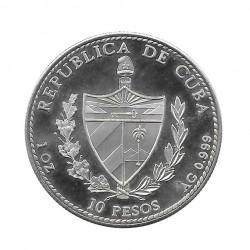 Moneda Plata 10 Pesos Cuba Reina Isabel España Año 1990 Proof   Tienda Numismática - Alotcoins