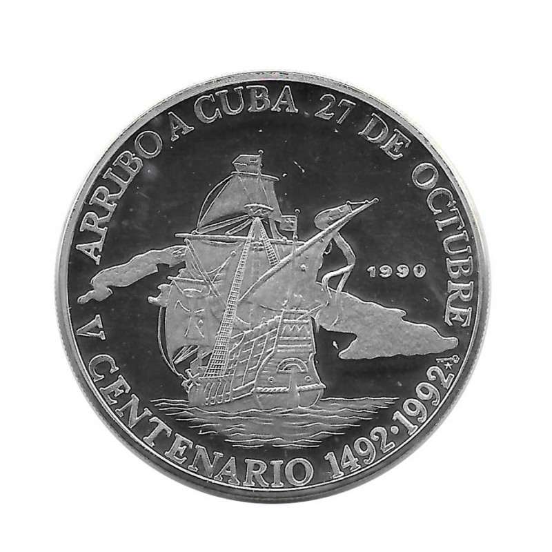 Silver Coin 10 Pesos Cuba Arrival at Cuba 1492-1992 Year 1990 Proof | Collectible Coins - Alotcoins