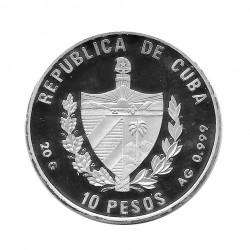 Silver Coin 10 Pesos Cuba Arrival at Cuba 1492-1992 Year 1990 Proof | Numismatics Shop - Alotcoins
