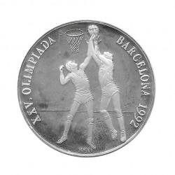 Silver Coin 10 Pesos Cuba Basketball Barcelona Olympics Year 1990 Proof | Collectible Coins - Alotcoins