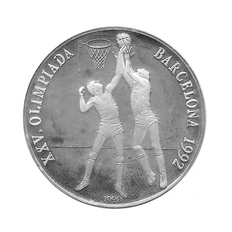 Moneda Plata 10 Pesos Baloncesto Olimpiadas Barcelona Año 1990 Proof | Monedas de colección - Alotcoins