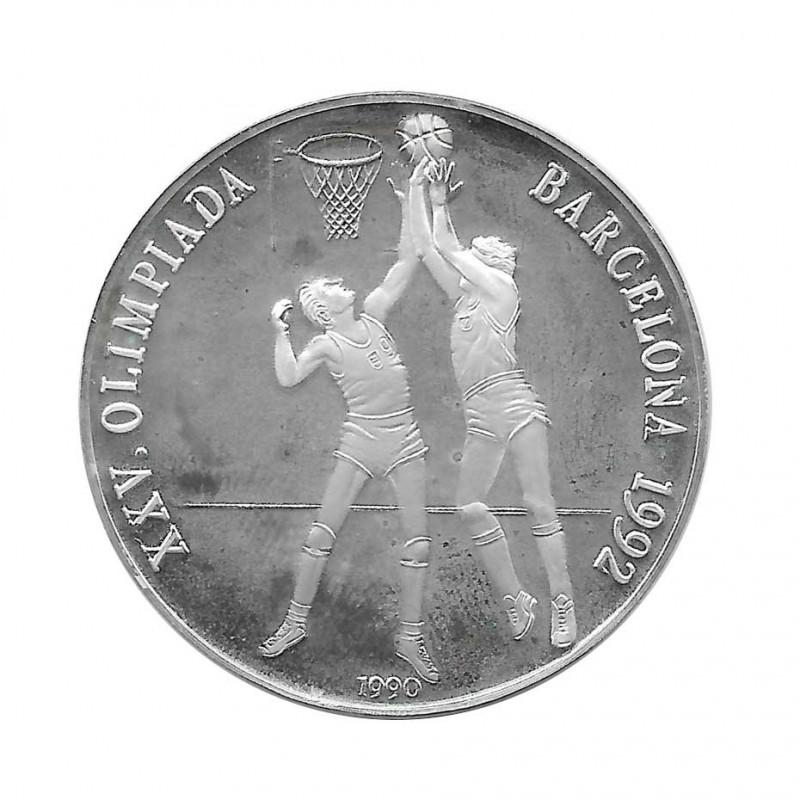 Silbermünze 10 Peso Kuba Korbball Olympischen Spielen Barcelona Jahr 1990 Polierte Platte PP | Sammelmünzen - Alotcoins