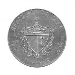 Silbermünze 10 Peso Kuba Korbball Olympischen Spielen Barcelona Jahr 1990 Polierte Platte PP | Numismatik Store - Alotcoins