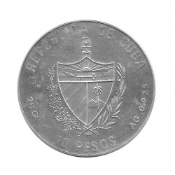 Silver Coin 10 Pesos Cuba Basketball Barcelona Olympics Year 1990 Proof   Numismatics Shop - Alotcoins