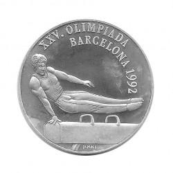 Silbermünze 10 Peso Kuba Pauschenpferd Olympischen Spielen Barcelona Jahr 1990 Polierte Platte PP | Sammelmünzen - Alotcoins