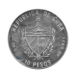 Silbermünze 10 Peso Kuba Pauschenpferd Olympischen Spielen Barcelona Jahr 1990 Polierte Platte PP | Numismatik Store - Alotcoins
