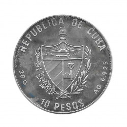 Silver Coin 10 Pesos Cuba Vaulting Horse Barcelona Olympics Year 1990 Proof   Numismatics Shop - Alotcoins