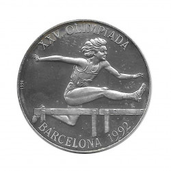Silbermünze 10 Peso Kuba Hürdensprung Olympischen Spielen Barcelona Jahr 1990 Polierte Platte PP | Sammelmünzen - Alotcoins