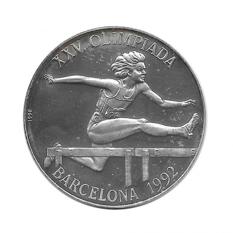 Moneda Plata 10 Pesos Salto Valla Olimpiadas Barcelona Año 1990 Proof | Monedas de colección - Alotcoins