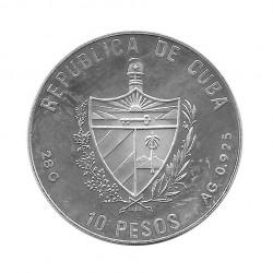 Silbermünze 10 Peso Kuba Hürdensprung Olympischen Spielen Barcelona Jahr 1990 Polierte Platte PP | Numismatik Store - Alotcoins