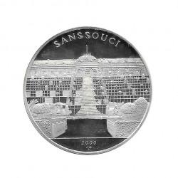 Moneda Plata 10 Pesos Cuba Palacio de Sanssouci Potsdam Año 2000 Proof   Monedas de colección - Alotcoins