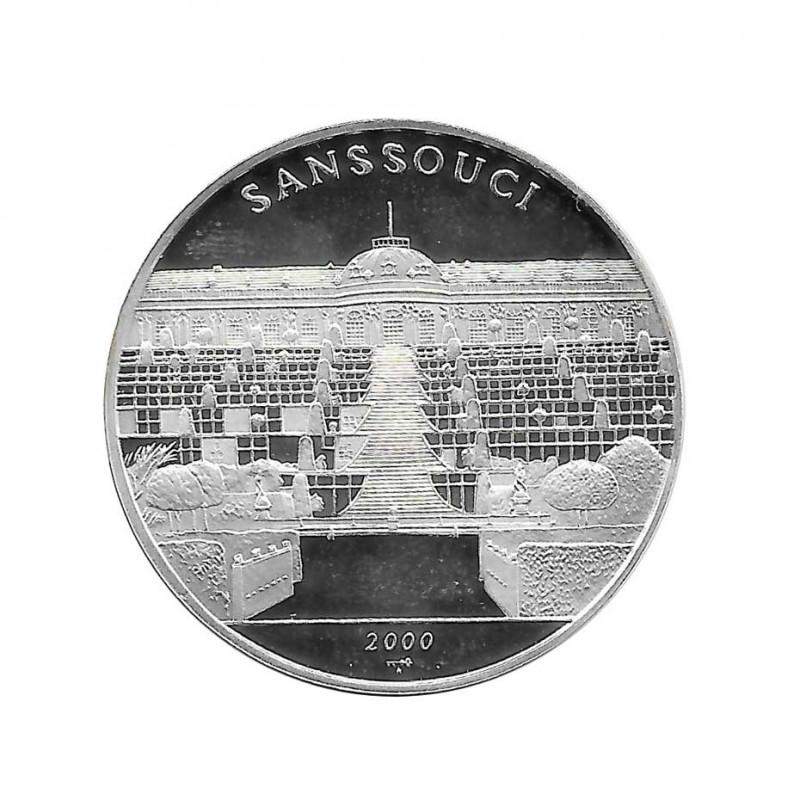 Silver Coin 10 Pesos Cuba Sanssouci Palace Potsdam Year 2000 Proof   Collectible Coins - Alotcoins