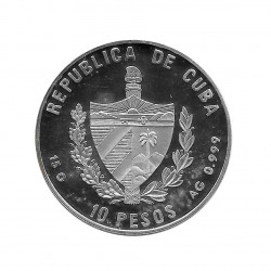 Silver Coin 10 Pesos Cuba Sanssouci Palace Potsdam Year 2000 Proof   Numismatics Shop - Alotcoins