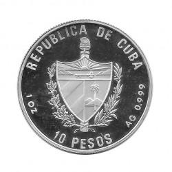 Silver Coin 10 Pesos Cuba La Giralda Tower Seville Year 1991 Proof | Numismatics Shop - Alotcoins