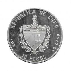 Moneda Plata 10 Pesos Cuba Puerta Alcalá Madrid Año 1991 Proof | Tienda Numismática - Alotcoins