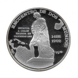 Silbermünze 10 Peso Kuba Begegnung Zweier Welten Cristobal Colon Jahr 1991 Polierte Platte PP | Sammelmünzen - Alotcoins